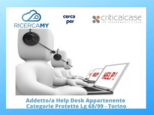 HELP DESK appartente Categorie Protette – Torino