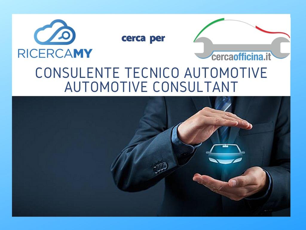 Consulente Tecnico Settore Automotive – Automotive Consultant