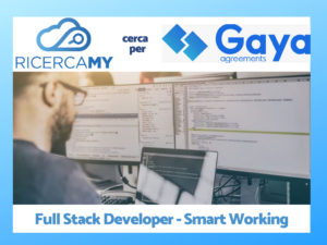 Read more about the article Scaduto:Full Stack Developer – Smart Working